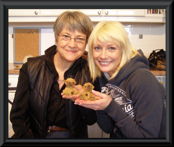 Sandra and Catherine and their bears