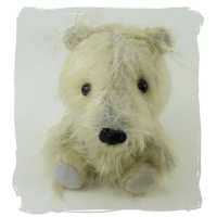 Bryn a white mohair dog