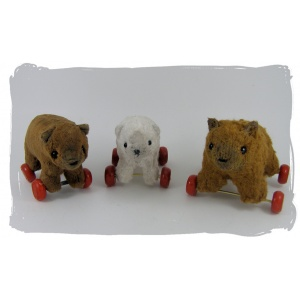 3 bears on wheels