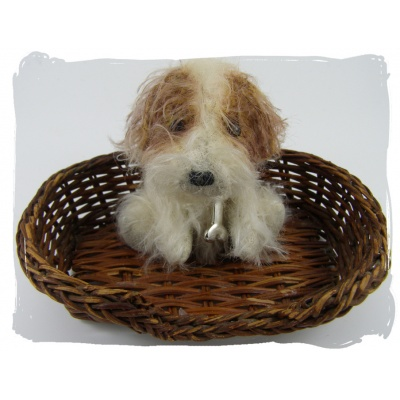 Dog in Basket
