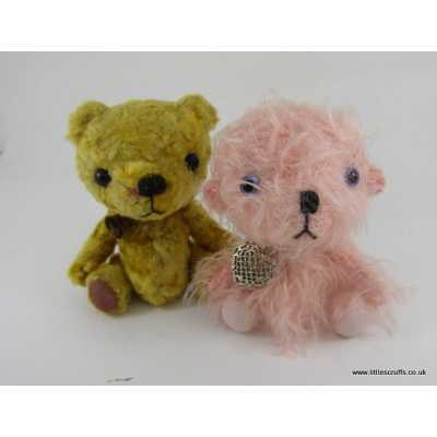 pink and gold bear