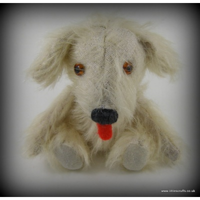 Scamp, vintage style mohair dog